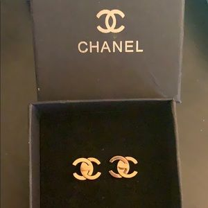 Authentic CHANEL rose gold  Earrings